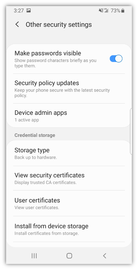 android ssl certificates