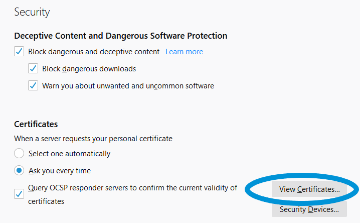 viewing ssl certificates in firefox